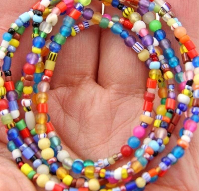 African Beads for women Multicolor Spacer Beads set of 6