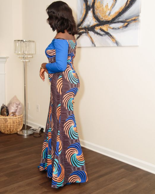 Long dresses African print sizes M and L SM Fashion house 2