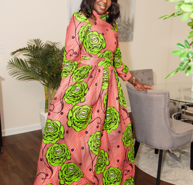 Long dresses African print sizes M and L