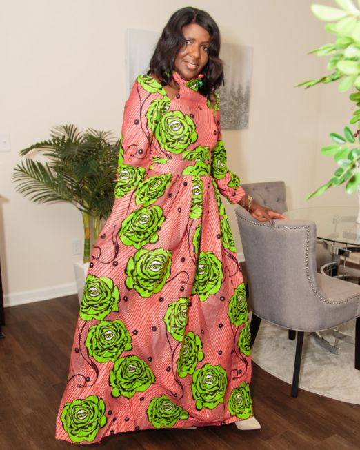 Long dresses African print sizes M and L SM Fashion house 3