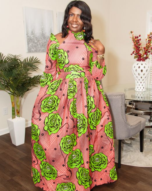 Long dresses African print sizes M and L SM Fashion house 4