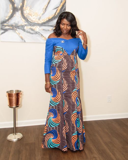 Long dresses African print sizes M and L SM Fashion house